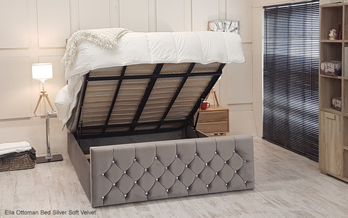 Ella Gas Lift Ottoman Storage Bed Frame Available In