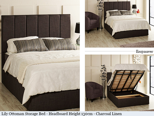 Wondrous Lily Gas Lift Ottoman Storage Bed Frame Available In Crush Velvet Chenille Linen Or Faux Suede Fabrics Ncnpc Chair Design For Home Ncnpcorg