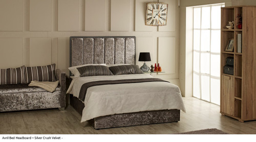 Avril Bed Headboard shown with Elissa Seat and Albany base.