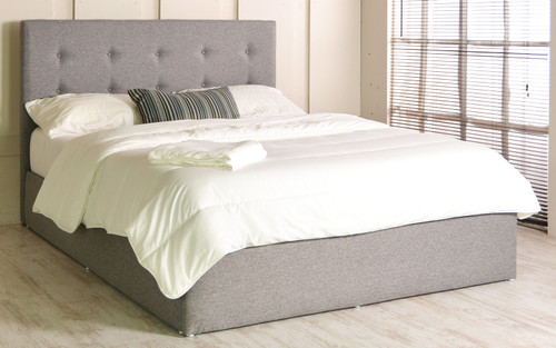 Paris gas lift ottoman bed Grey Tweed