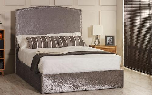 Esupasaver Konya ottoman bed silver crush velvet
