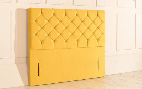 Christina Chesterfield Design Upholstered Floor Standing Headboard Sunshine Gold