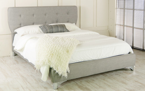 Jazmine Upholstered Bed Frame Grey Linen