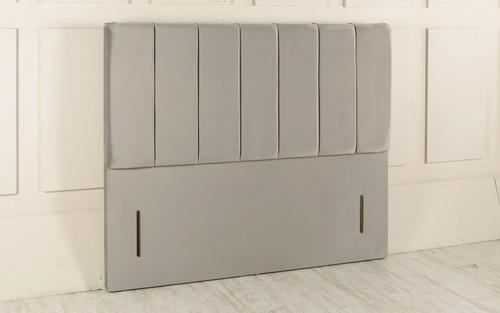 Holsted Floor Standing Headboard Silver Smooth Velvet