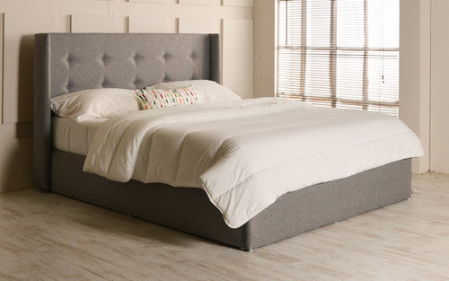 Ivy gas lift ottoman bed Grey Tweed