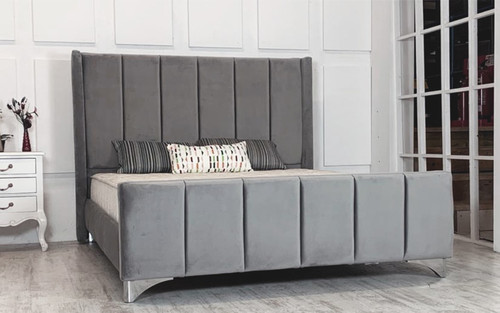 Copenhagen Winged Upholstered Bed