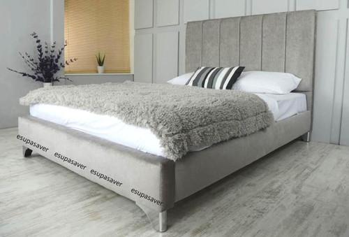 Denver Bed Frame Available In Crush Velvet Chenille