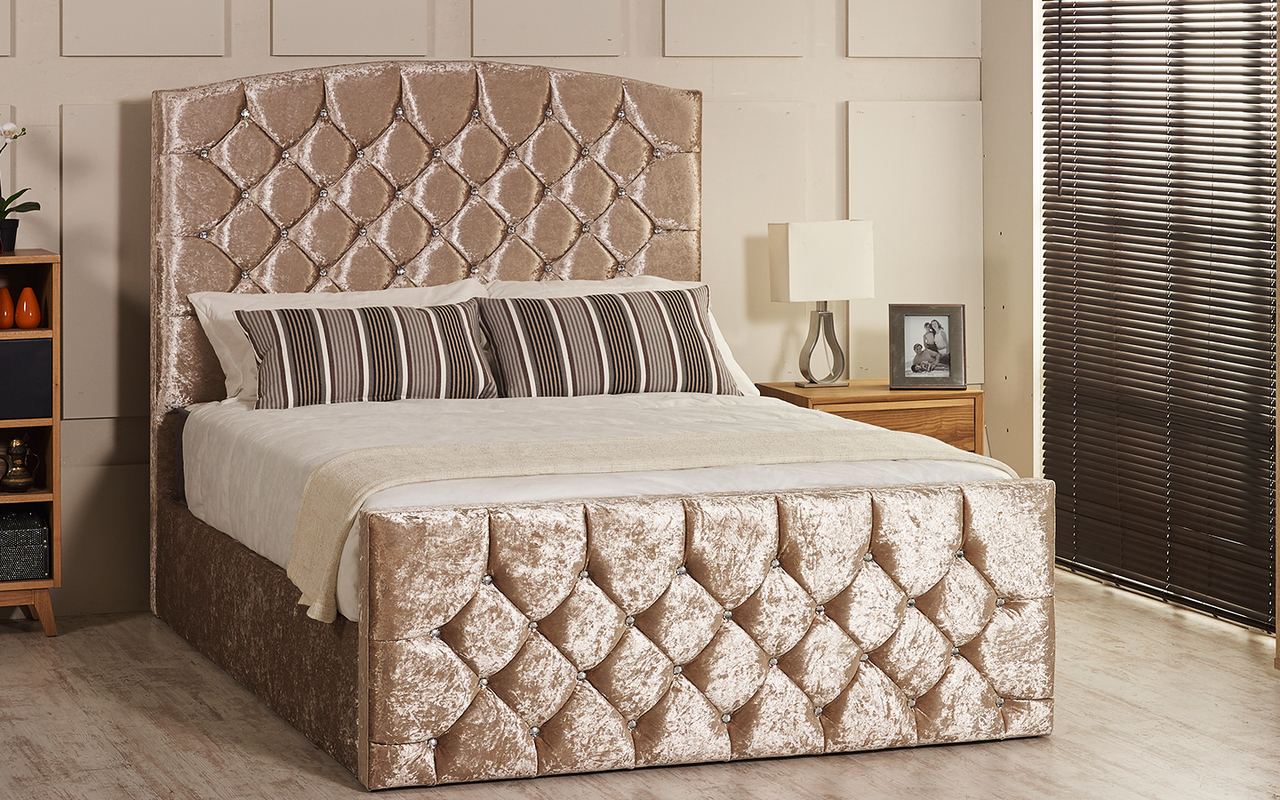 Prime Olivia Gas Lift Ottoman Storage Bed Frame Available In Crush Velvet Chenille Linen Or Faux Suede Fabrics Ibusinesslaw Wood Chair Design Ideas Ibusinesslaworg