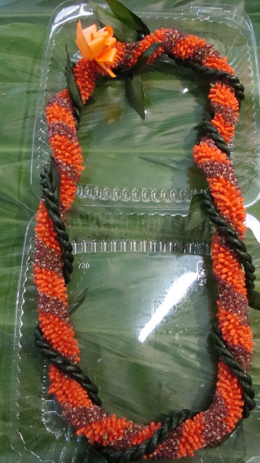 Cigar Wrapped with Rope Ti Leaf Lei