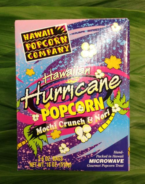 Contains three (3) individually wrapped Hawaiian Hurricane popcorn packets.