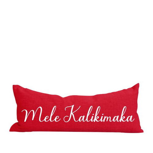"Pillow Cover ""Mele Kalikimaka"" Long"