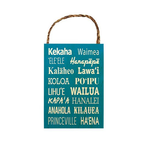 "Wood Sign ""Kauaʻi Spots"""