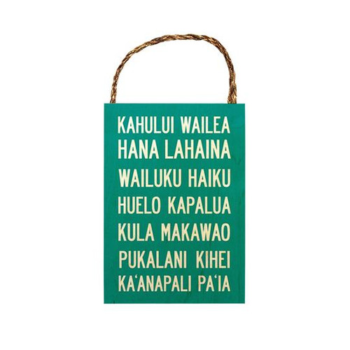 "Wood Sign ""Maui Scroll"""