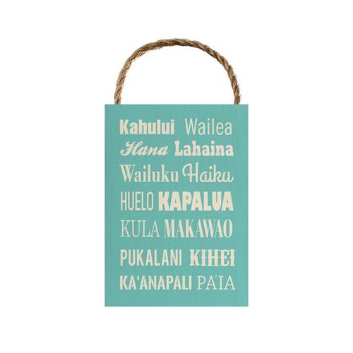 "Wood Sign ""Maui Spots"""