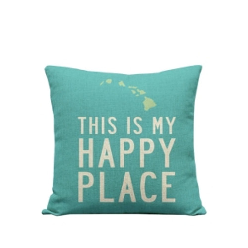 """Pillow Cover """"This is My Happy Place"""""""