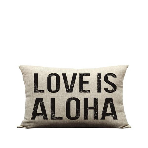 """Pillow Cover """"Love is Aloha"""""""