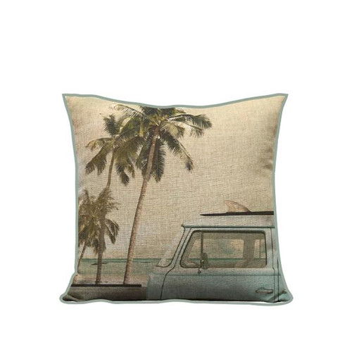 """Pillow Cover """"Surf Bus"""""""