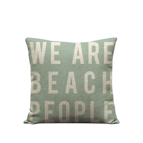 """Pillow Cover """"We Are Beach People"""""""
