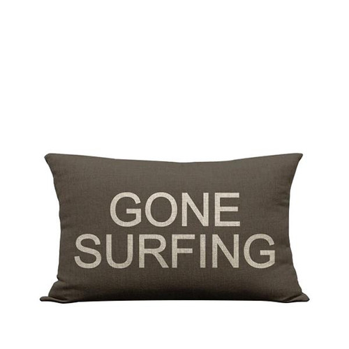 "Pillow Cover ""Gone Surfing"""