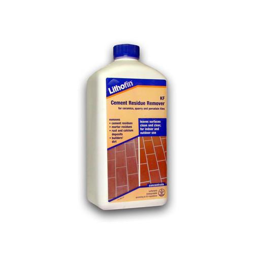 Lithofin KF Cement Residue Remover Ceramic & Vitrified Tiles - 1 Ltr