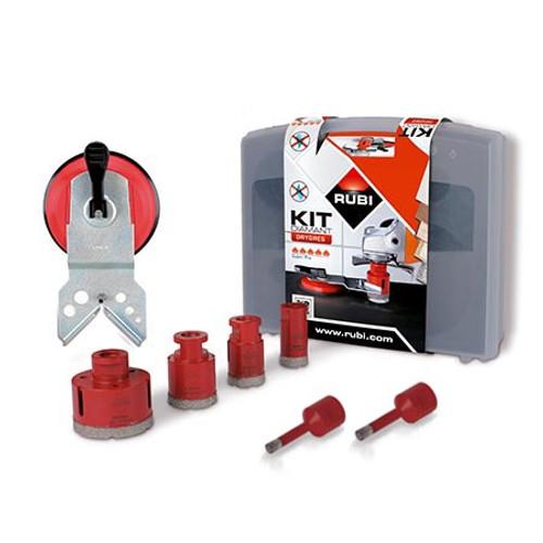 Rubi Diamant DRY Cutting Drilling Bit Kit 6 Bits Drygres - 50996