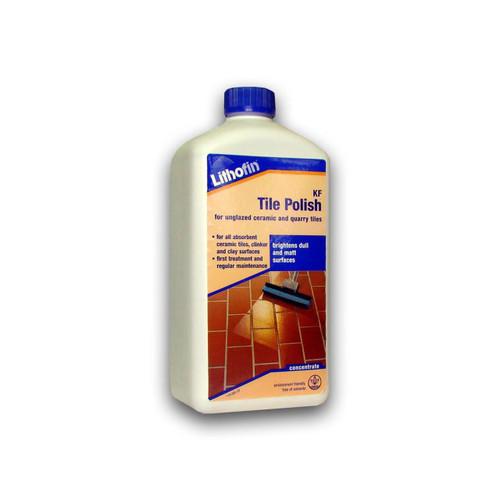 Lithofin KF Tile Polish For Unglazed Ceramic & Quarry Tiles - 1 Litre