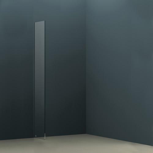 AquaFix 10mm Wetroom Glass Shower Screen - 2000 x 390mm
