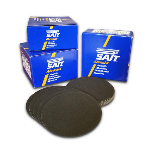 SAIT Silicon Carbide Hook & Loop No Hole 125mm Disc - 80 Grit