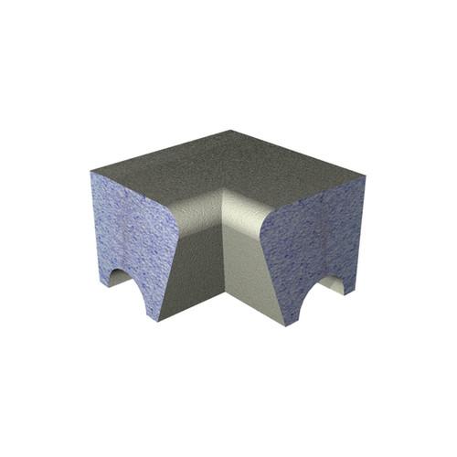 AquaFix Low Back Shower / Steam Room Seat Internal Mitre Cut Section