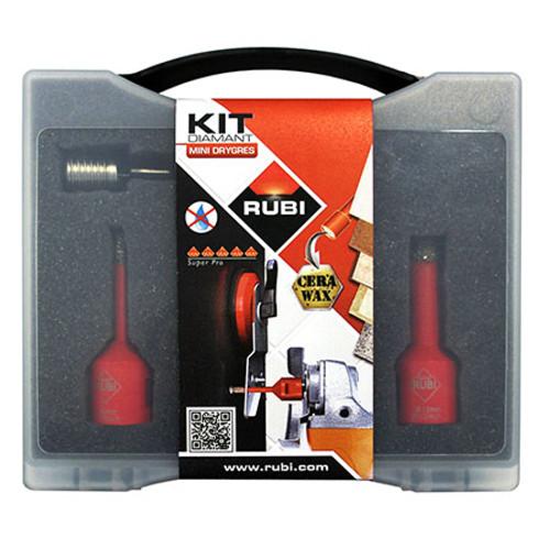 Rubi Diamant DRY Cut Drilling Bit Kit 6 8 10 12mm Drygres - 50938