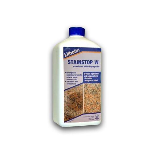 Lithofin Stain Stop W - Waterbased NANO-Impregnator & Sealer - 1 Litre