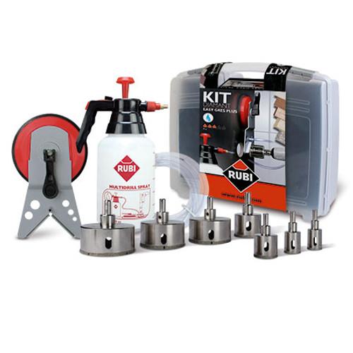 Rubi Easy Gres PLUS Kit 20-75mm Drills Bottle & Multidrill Guide-50937