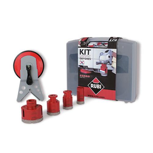 Rubi Diamant DRY Cutting Drilling Bit Kit 28-65mm Drygres - 50917