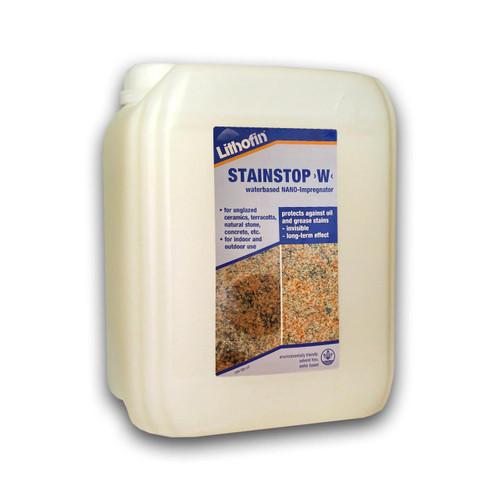 Lithofin Stain Stop W - Waterbased NANO-Impregnator & Sealer - 5 Litre