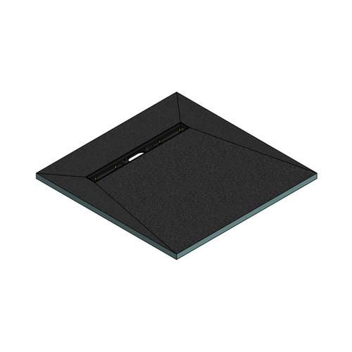 AquaFix Wetroom Shower Tray - 900x900x30mm - 600mm Linear End Waste