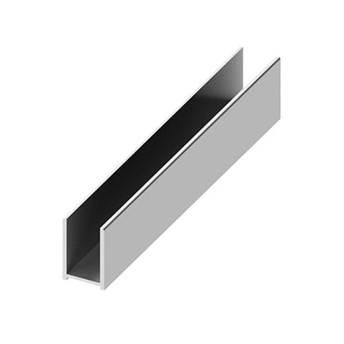 AquaFix Surface Channel for 10mm Glass Screens - Polished Chrome 2400mm