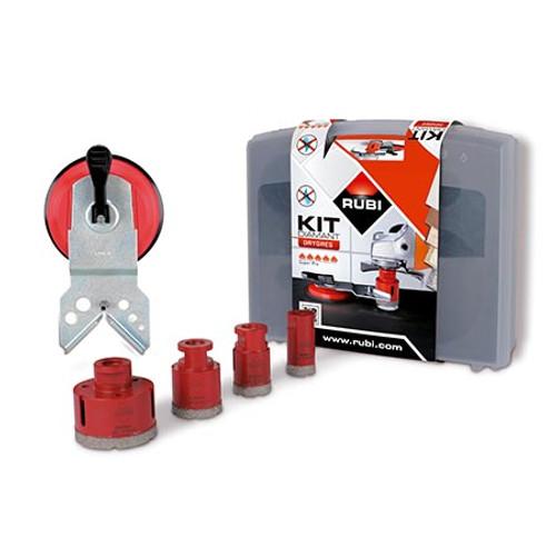 Rubi Diamant DRY Cutting Drilling Bit Kit 5 Bits Drygres - 50936