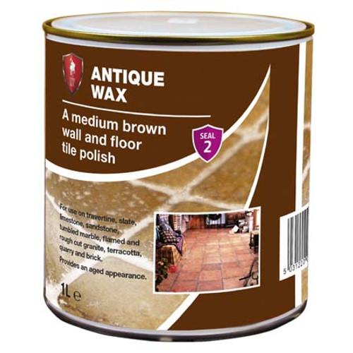 LTP Antique Wax - Medium Brown Wall & Floor Tile Polish - 1 Litre