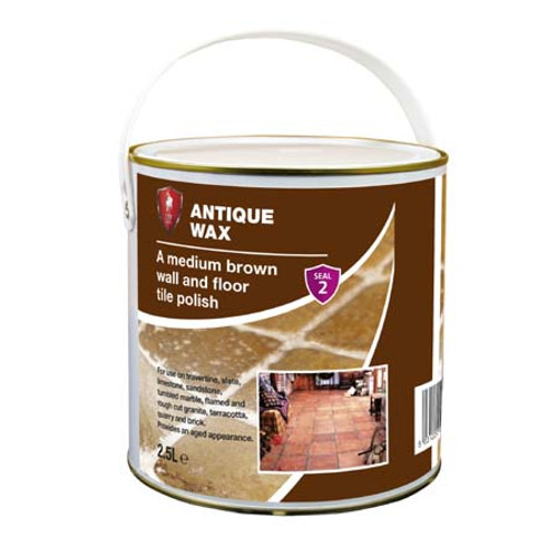 LTP Antique Wax - Medium Brown Wall & Floor Tile Polish - 2.5 Litre