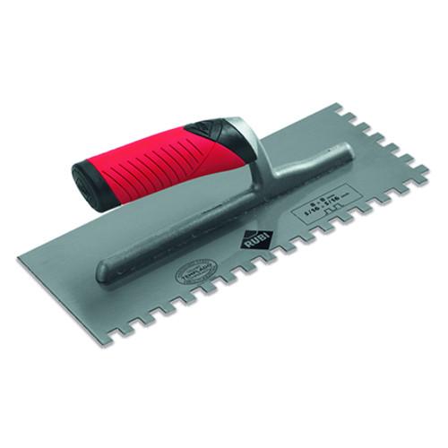 Rubi Stainless Steel Adhesive Trowel - 15mm x 15mm - 76947