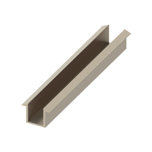 AquaFix Recessed Channel for 10mm Glass Screens - Brushed Nickel 1200mm