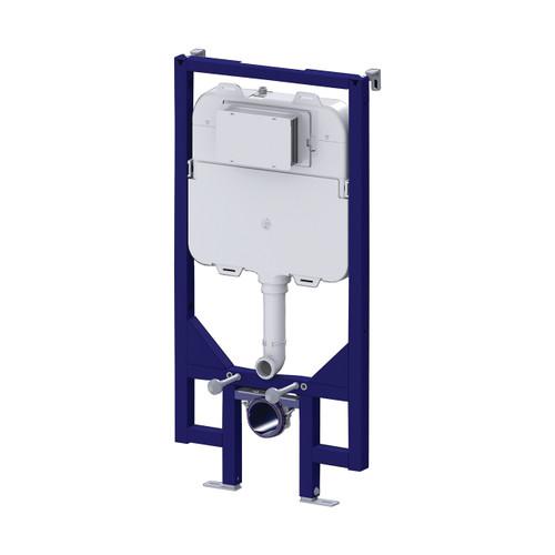 AquaFix WC Wall Mounted 90mm Slimline WC Frame with Dual Flush Cistern