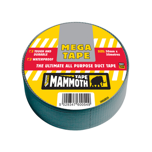 Everbuild Mega Duct Tape Protecta - 50mm x 50m Silver Duct Tape