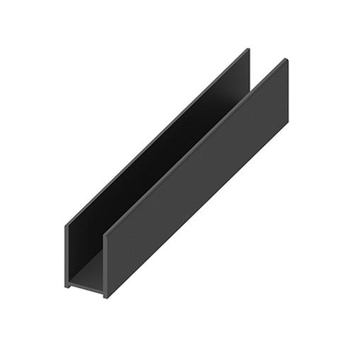 AquaFix Surface Channel for 10mm Glass Screens - Matt Black 2400mm