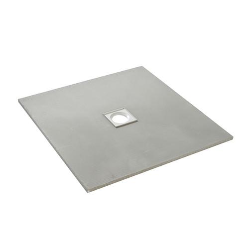 AquaFix Low Profile Wetroom Shower Tray - 800x800x20mm Centre Waste