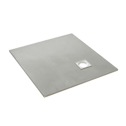 AquaFix Low Profile Wetroom Shower Tray - 1000x1000x20mm Offset Waste