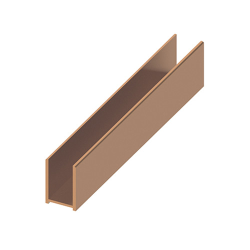 AquaFix Surface Channel for 10mm Glass Screens - Brushed Bronze 1200mm