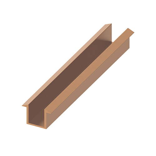 AquaFix Recessed Channel Pack for 10mm Glass Screens - Brushed Bronze