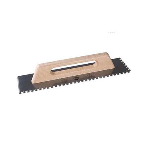 Rubi Steel 48cm WIDE Closed Handle Adhesive Trowel - 20mm x 20mm - 75962
