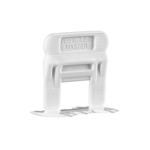 Perfect Level Master - 1mm SMALL Clip For Tile Thickness 3-10 mm - Bag 100